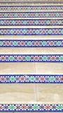 decoração marroquina das escadas foto de stock royalty free