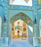 A decoração modelada de Chaharbagh Madraseh, Isfahan, Irã Fotografia de Stock