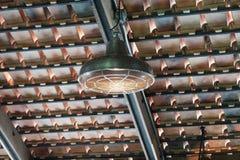 Decoração moderna de lâmpadas elétricas foto de stock