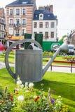 Decoração moderna do jardim Jardin Ephemere em Boulogne foto de stock royalty free
