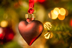 Decoração na árvore de Natal Fotografia de Stock