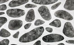 Decoração na parede do cimento Imagem de Stock