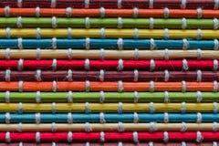Decoração natural do fundo de madeira de bambu da palha do placemat Imagens de Stock Royalty Free