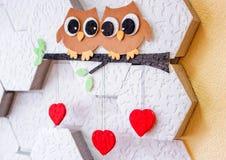 Decoração no dia do ` s do Valentim da parede Foto de Stock