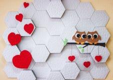 Decoração no dia do ` s do Valentim da parede Foto de Stock Royalty Free