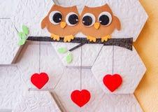 Decoração no dia do ` s do Valentim da parede Fotos de Stock Royalty Free