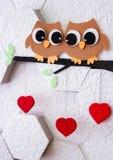 Decoração no dia do ` s do Valentim da parede imagens de stock royalty free