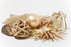 Decoração no ouro Fotografia de Stock Royalty Free