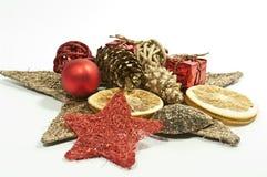 Decoração no vermelho e no ouro Imagem de Stock Royalty Free