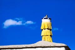 Decoração o telhado do templo de Tuolin Imagens de Stock Royalty Free