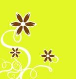 A decoração ondula com flor ilustração stock