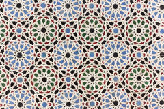Decoração oriental do mosaico - telhas da parede de Marrocos fotografia de stock