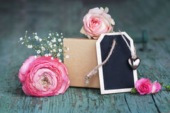 Decoração para um presente do dia de mães Foto de Stock Royalty Free