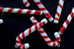 Decoração plástica do Natal do bastão de doces Imagens de Stock Royalty Free
