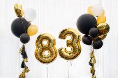 Decoração por 83 anos de aniversário, aniversário Fotos de Stock