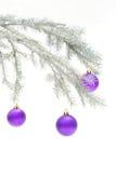 Decoração prateada do Natal Imagem de Stock