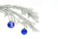 Decoração prateada do Natal Imagens de Stock Royalty Free