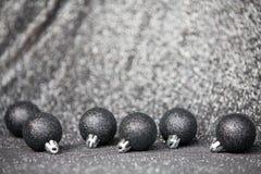 Decoração preta festiva do Natal com Natal preto à moda Foto de Stock Royalty Free