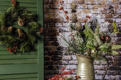 Decoração rústica do Natal Foto de Stock