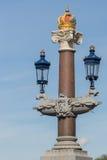 Decoração real em Blauwbrug em Amsterdão Fotos de Stock