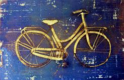 Decoração retro da bicicleta foto de stock