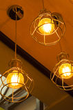 Decoração retro da iluminação fotografia de stock royalty free