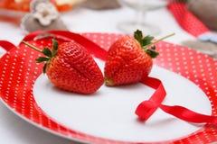 Decoração romântica da tabela Imagem de Stock