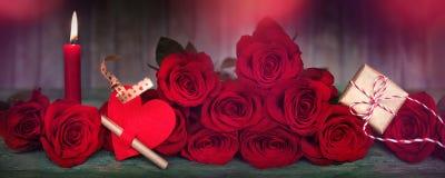 Decoração romântica para o dia de Valentim Imagem de Stock