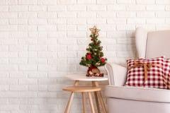 Decoração simples do Natal imagens de stock royalty free