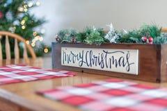 Decoração tabletop do feriado do Natal imagens de stock