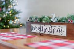 Decoração tabletop do feriado do Natal foto de stock royalty free