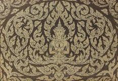 Decoração tailandesa da porta do templo budista Fotografia de Stock