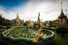 Decoração tailandesa do estilo no templo do chalong, Phuket, Tailândia fotografia de stock