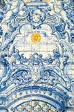 Decoração tradicional da telha da parede, Madeira Imagens de Stock