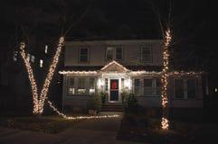 Decoração tradicional dos cristmass em Boston, EUA o 11 de dezembro de 2016 Foto de Stock