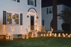 Decoração tradicional dos cristmass em Boston, EUA o 11 de dezembro de 2016 Fotos de Stock Royalty Free