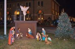 Decoração tradicional dos cristmass em Boston, EUA o 11 de dezembro de 2016 Fotografia de Stock