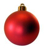 Decoração uma esfera vermelha Foto de Stock