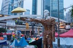 Decoração, uma rua que obstrui a demonstração em 2014, Admiralty, Imagens de Stock Royalty Free