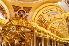 A decoração venetian Macau do hotel Imagens de Stock Royalty Free