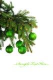 Decoração verde do Natal Foto de Stock