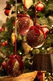 Decoração vermelha do Natal foto de stock