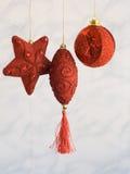 Decoração vermelha do Natal do artesanato Fotografia de Stock Royalty Free