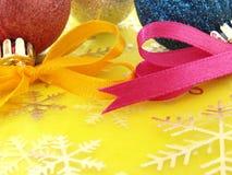 Decorações abstratas do Natal Imagens de Stock Royalty Free