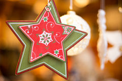 Decorações agradáveis do Natal imagem de stock royalty free