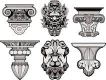 Decorações arquitectónicas romanas Imagens de Stock Royalty Free