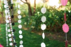 Decorações bonitas do casamento para a cerimônia Fotos de Stock Royalty Free