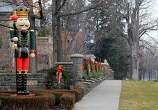 Decorações bonitas do feriado ao longo da propriedade excelente, mansão de Riggi, Saratoga Springs, New York, 2015 Foto de Stock