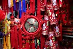 Decorações chinesas do ano novo Fotos de Stock Royalty Free