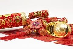 Decorações chinesas sortidos do ano novo Foto de Stock